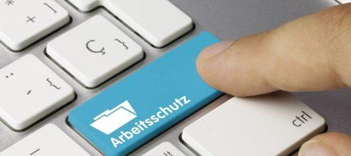 Arbeitsschutz Tastatur Finger