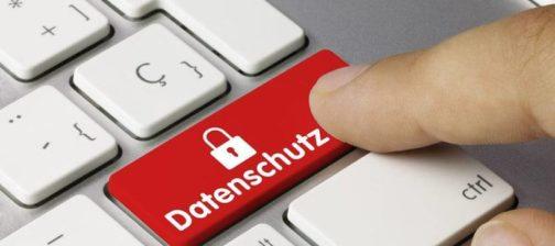 Datenschutz Tastatur finger