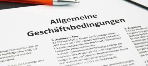 AGB allgemeine Geschäftsbedingungen