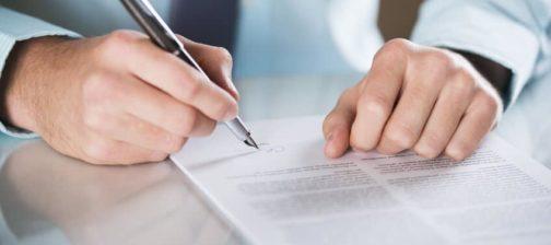 Vertrag, Haftung, Schriftform