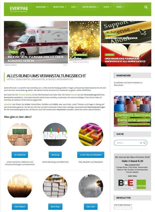 Das Portal für Veranstaltungsrecht