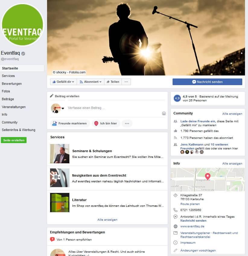 eventfaq.de ist auch bei facebook