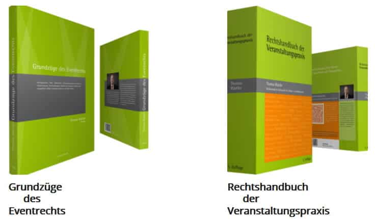 Bücher zum Evenrtrecht von Thomas Waetke